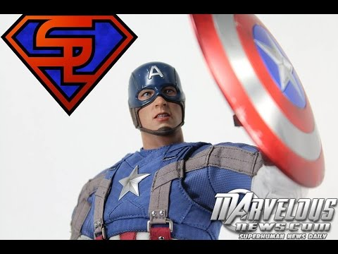 Captain America The Winter Soldier Hot Toys Golden Age Captain America 1/6 Scale Movie Figure Review