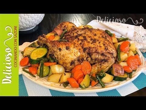 Pollo al Horno con Verduras / Oven Roasted Chicken with Vegetables thumbnail