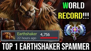 WORLD RECORD!!! Top 1 Earthshaker 4700+ Matches Spammer WTF ONE MAN Echo Slam | Dota 2 Highlights