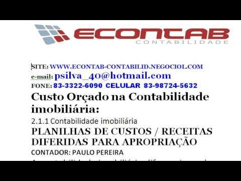1 ECONTAB -  CUSTO ORÇADO
