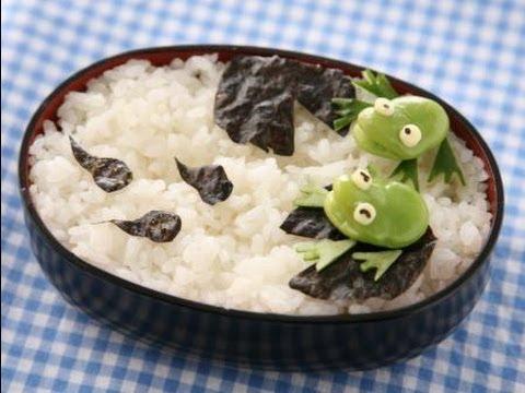 【キャラ弁】カエルとオタマジャクシの作り方 How To Make Frogs And Tadpoles