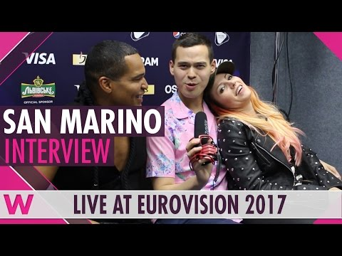 Valentina Monetta and Jimmie Wilson (San Marino) interview @ Eurovision 2017 | wiwibloggs
