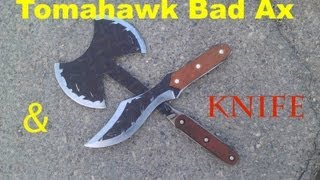 How to Make Tomahawk Bad Ax, Knife & Batstar