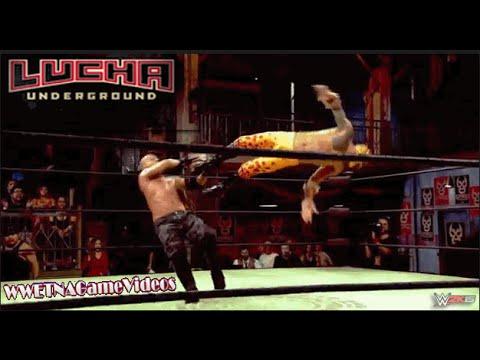 LUCHA UNDERGROUND 2014 Hijo Del Fantasma vs. Prince Puma vs. Pentagon Jr. - MATCH SIMULATION