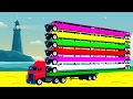 LEARN COLORS and NUMBERS with Long Cars and spiderman cartoon Frozen Elsa for Kids Learning Color