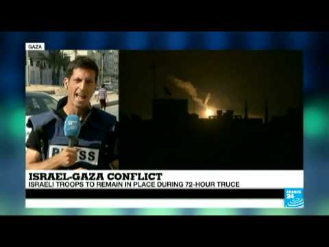 Violence precedes Gaza ceasefire on August 1, 2014 (FRANCE 24's Gallagher Fenwick)