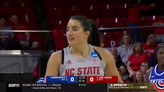 2019.03.25 Kentucky Wildcats (6) at NC State Wolfpack (3) Women's Basketball (NCAAT)