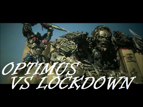 optimus prime vs lockdown transformers age of extinction