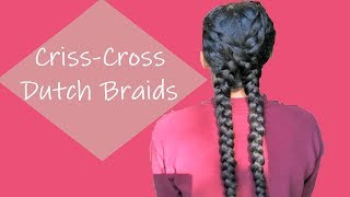 The X braid | Criss Cross Pigtails | Windy Day Hairstyle