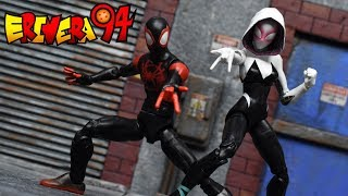 Marvel Legends MILES MORALES & SPIDER GWEN Into the Spider Verse Target Exclusive Figure Review