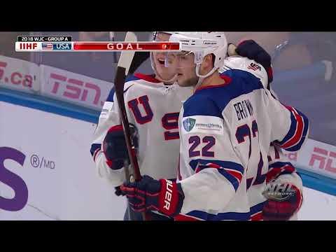 2018 WJC: Highlights - USA 9, Denmark 0