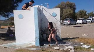 Funny Shampoo prank on beach Cant stop laughing