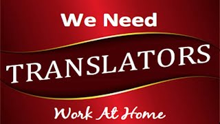 Translating Jobs - Work From Home Translator Jobs