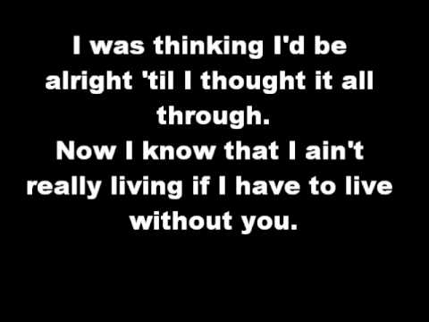 Chicago - I don't want to live without your Love (lyrics)