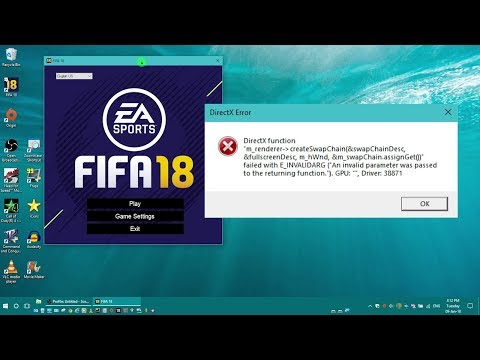 DirectX Function Error on Fifa 18 after windows 10 update (Try this fix first)