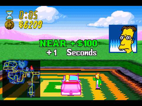 The Simpsons - Road Rage - The Simpsons Road Rage (GBA) - Vizzed.com GamePlay - User video