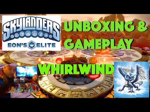 SKYLANDERS EON'S ELITE Whirlwind Unboxing and Gameplay