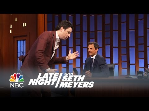 Zach Braff Had a Musical Theater-Themed Bar Mitzvah - Late Night with Seth Meyers