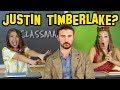 Justin Timberlake is in Celeb Classmates or Is He Fake? Totally TV