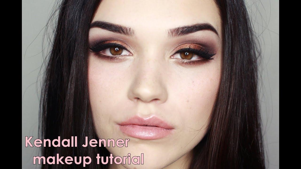 Kendall Jenner Inspired Makeup Tutorial - YouTube