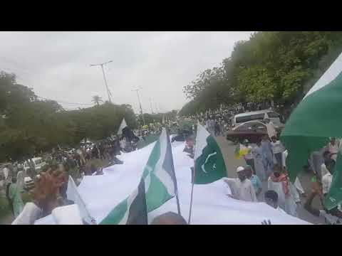 Bachoo Dewan aur Khawaja Salman ki qayadat me Mazar e Qayad k atraf reli thumbnail