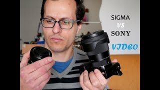 Sigma 16mm f1.4 vs Sony 16-50mm Kit Lens *Video Compared*