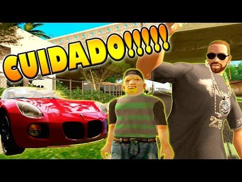 GTA San Andreas Loquendo - CJ enseña a manejar a su hijo ( ?° ?? ?°)