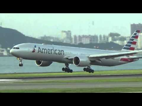 Daily American Airlines 773 Landing in Hong Kong from Dallas