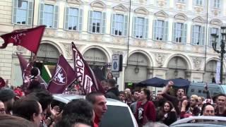 FORZA TORO! - Festa in P.zza San Carlo per vittoria sulla Juventus - TORINO, 26 APRILE 2015