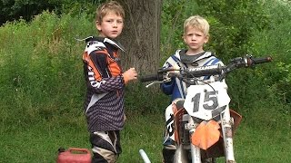 Kinder Motocross - voll in Action