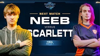Grand Final: Neeb vs Scarlett PvZ - WCS Challenger 2018 Season 3 – NA
