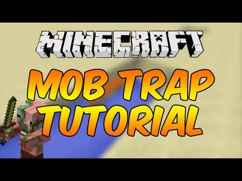  Minecraft 1.5.2 - Mob Trap Tutorial - Using Hoppers!