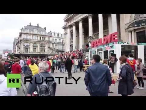 Belgium: Euro 2016 public screenings cancelled following police raids in Brussels