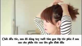 Cách làm tóc búi hình vòm siêu tốc