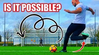 Is It Possible To KNUCKLEBALL A Rabona? (Challenge!)