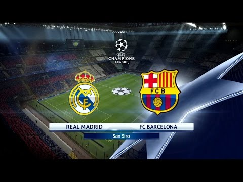 PES 16 - UEFA Champions League Final  Real Madrid vs Barcelona Star Difficulty Gameplay