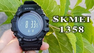 Skmei 1358 full review #141 barometer/altimeter/compass/thermometer/pedometer watch