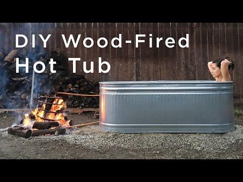 DIY Wood Fired Hot Tub