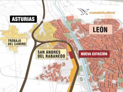 voxelstudios -- Integración urbana del ferrocarril en León y San Andrés del Rabanedo