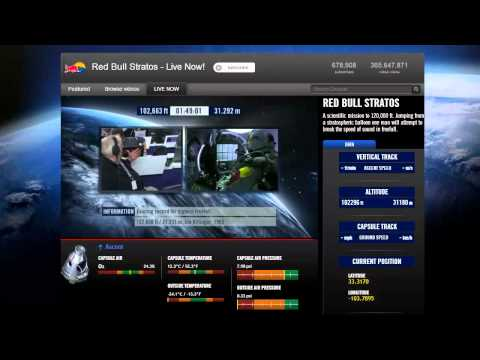 Red Bull Stratos & Felix Baumgartner Record 128,000 Foot Skydive from Balloon (10-14-2012, HD)