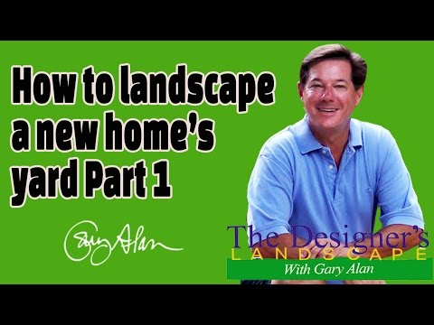 How to Landscape a new home's yard Part 1DesignersLandscape#610