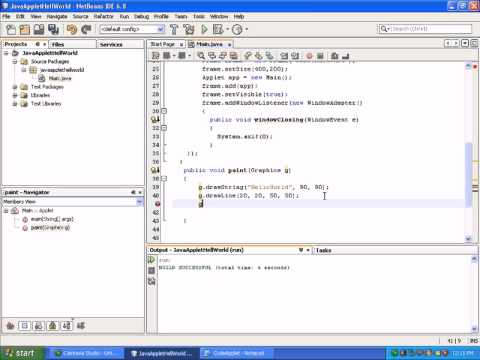 Developing Java Applets|Applet and Swing in Java|Java Video Tutorials