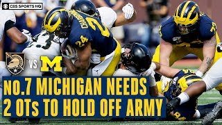 Army vs. Michigan Recap: No. 7 Wolverines SURVIVE Upset Bid With Double-Overtime Win | CBS Sports HQ