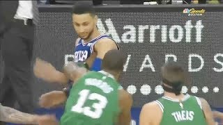 Ben Simmons & Marcus Morris Fight/ Scuffle - Celtics vs 76ers | Jan 11, 2018 | 2017-18 NBA Season