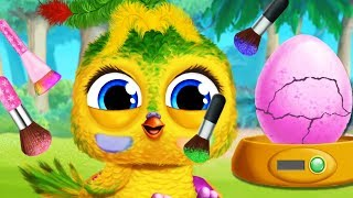 Animals Hatching Care Game - Play Makeover, Dress Up, Color Baby Animal Hair - Funny Gameplay Video