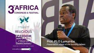 Prof. PLO Lumumba speaks to African religious leaders in Kigali Rwanda