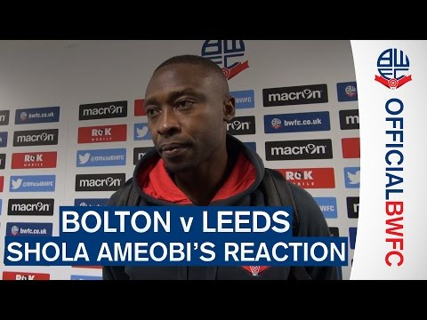 BOLTON v LEEDS | Shola Ameobi's reaction