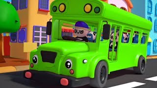 Wheels On The Bus | Baby Bao Panda Cartoons | Preschool Nursery Rhymes - Kids TV