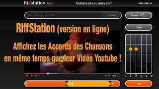 RiffStation : affichez les accords des chansons en même temps que leur vidéo Youtube !