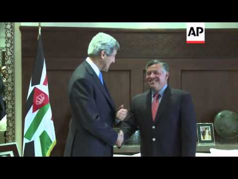U.S. Secretary of State John Kerry meets Jordan's King Abdullah II